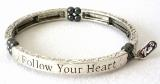 "Magnet-Armband ""Follow your heart"""